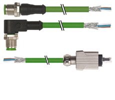 Extremo con cables abiertos (EtherNet-IP, PROFINET)